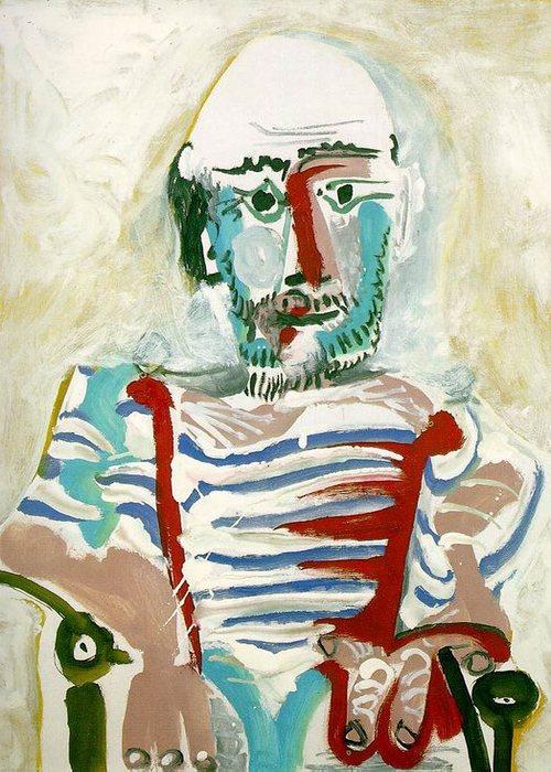 Автопортрет Пабло Пикассо, 1965 года.