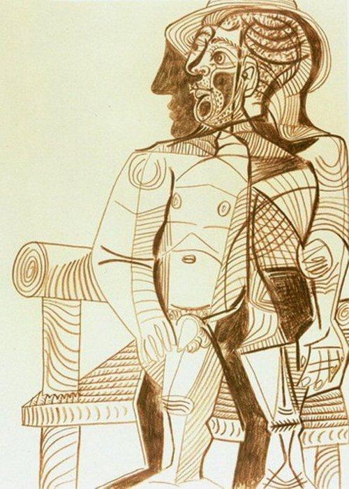 Автопортрет Пабло Пикассо, 1966 года.