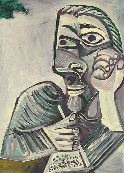 Автопортрет Пабло Пикассо, 1971 года.