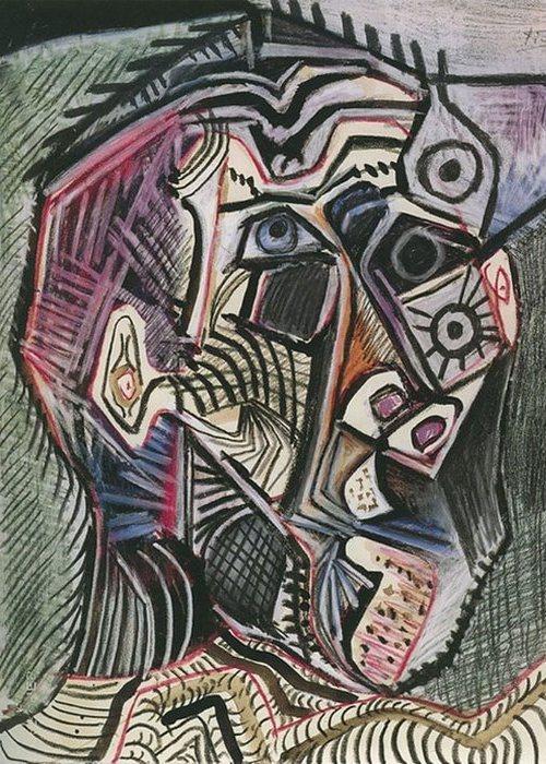 Автопортрет Пабло Пикассо, June 28, 1972 года.