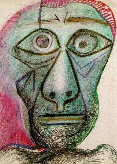Автопортрет Пабло Пикассо, June 30, 1972 года.