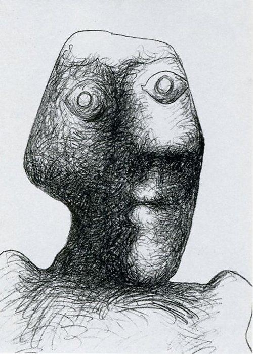 Автопортрет Пабло Пикассо, July 3, 1972 года.