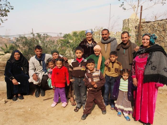 Семья из города мусорщиков Заббалина.