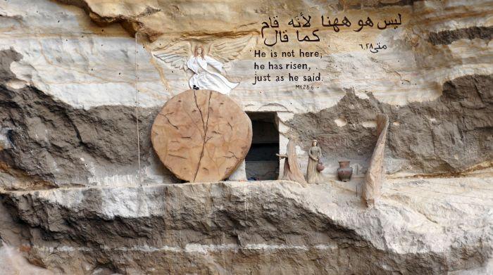Интерьеры коптского храма в Заббалине.