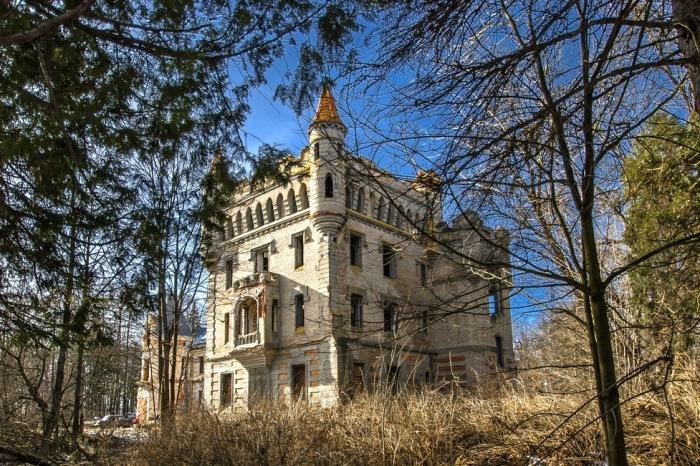 Загадочный готический замок в муромских лесах.