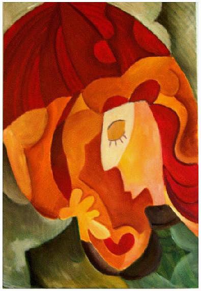 Женщина с зонтом.Живопись. (раннее)