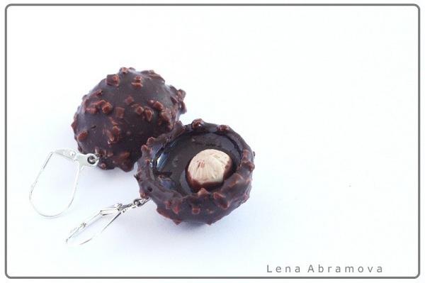 """серьги """"Ferrero Rocher"""""""