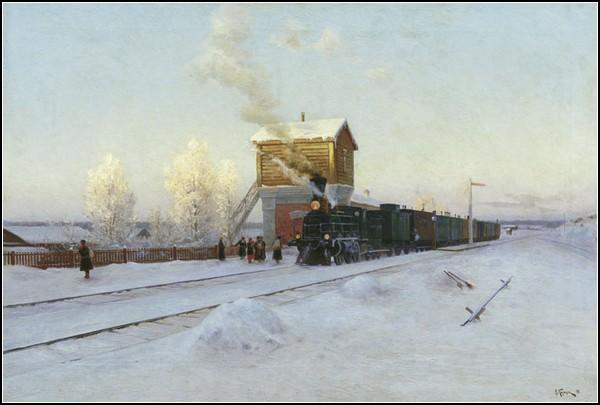 Зима и солнце: Владимир Казанцев. На полустанке