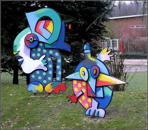 Немецкий художник Отмар Альт: парковая скульптура