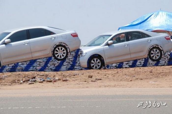 Стоянка для машин по-арабски