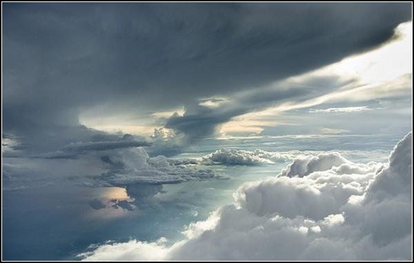 Небесные пейзажи: кучевые облака