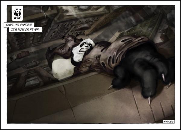 Затаившаяся панда в рекламе: супергероя надо спасти