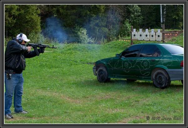 Пуля-дура: узорная стрельба по машинам