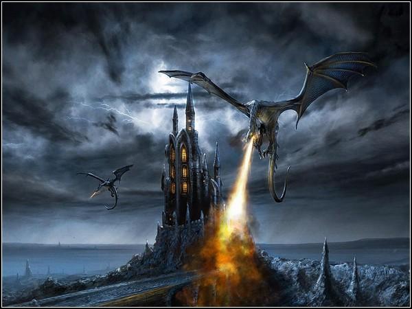 Мир драконов и замков