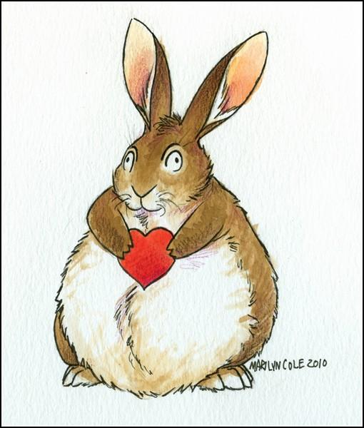 Кролики и любовь: толстый кролик на день Валентина