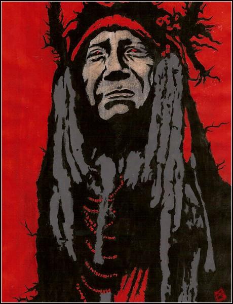 Индейская Америка в картинках: вождь