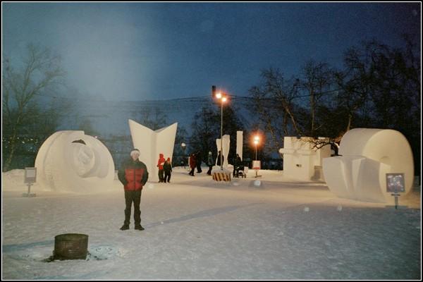 Снежные скульптуры из Кируны