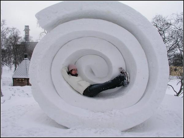 Снежные скульптуры из Кируны: спираль