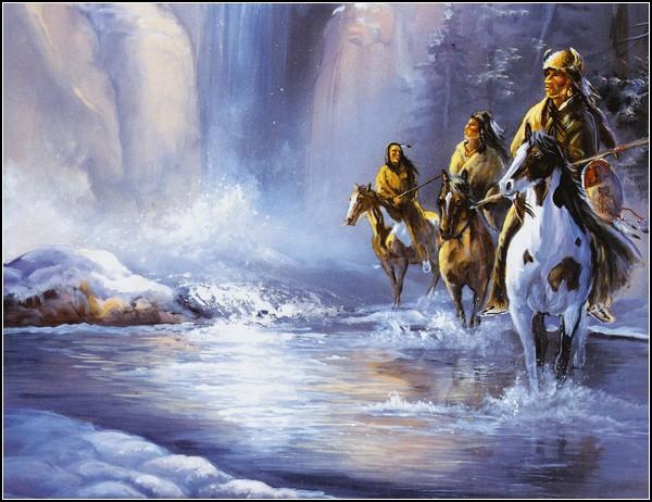 Индейская Америка в картинках: зима