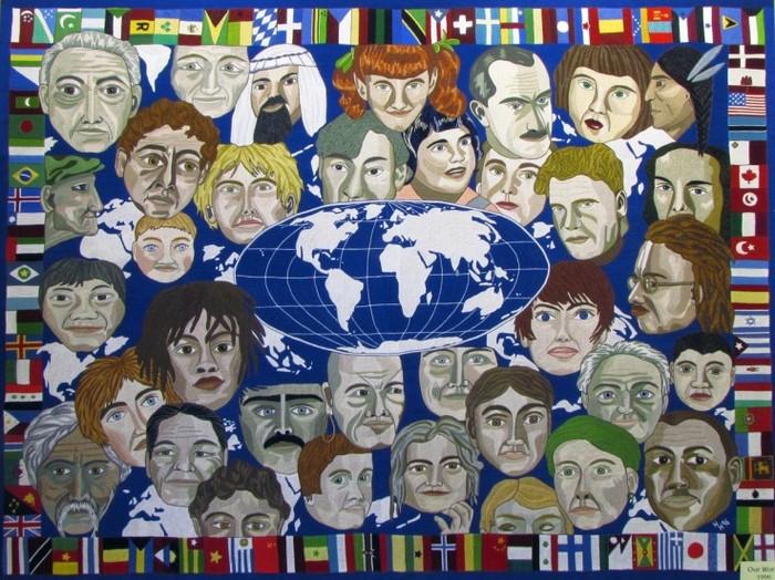 *Наш мир*. Вышивка Хизер Хэмс