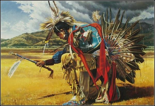 Индейская Америка в картинках: шаман вызывает дождь