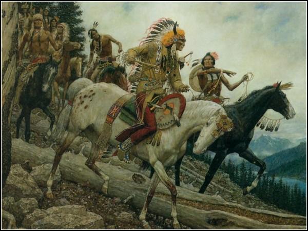Искусство америки - культура индейцев: всадники