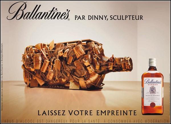 Рекламные скульптуры из необычных материалов. Виски *Баллантайн*