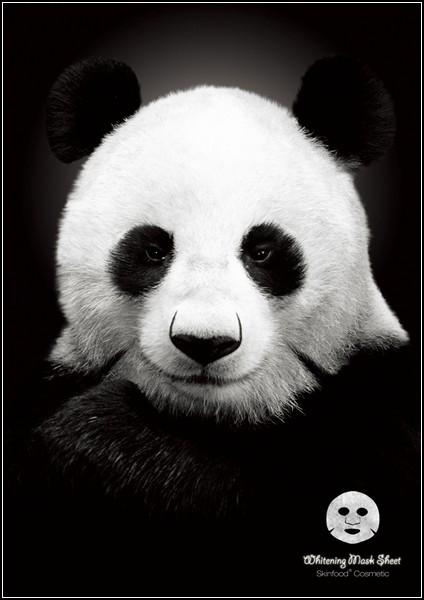 Затаившаяся панда в рекламе: маска для лица