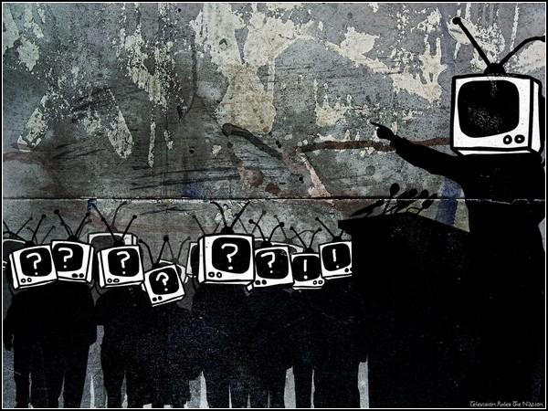 Человек и телеэкран: система подавления