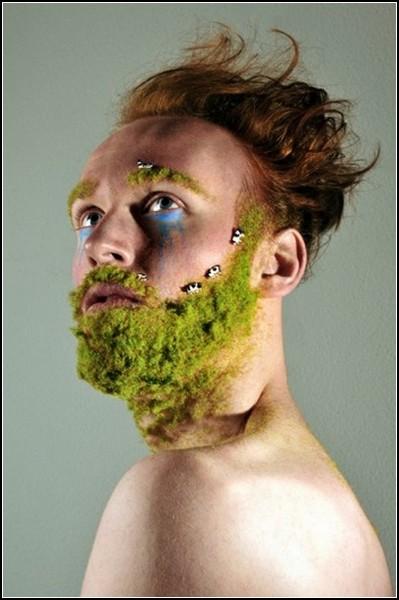 Накладная борода из мха