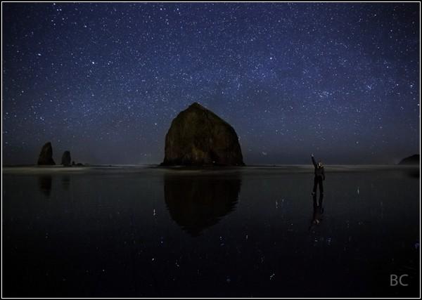Небо. Ночь. Звезды. Человек