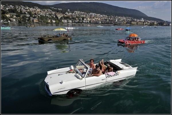 Гонки автомобилей-амфибий в Швейцарии