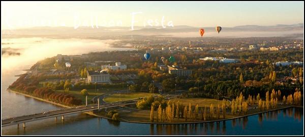 Праздник воздушных шаров: фотография с высоты