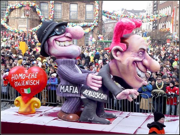 Политические карикатуры. Сильвио Берлускони и мафия