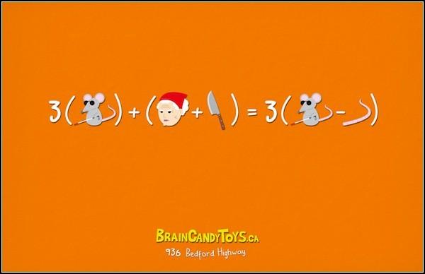 Части сказки - в уравнениях. Три слепых мышонка
