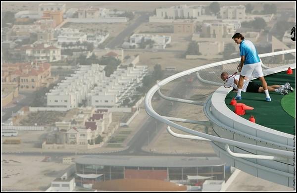 Теннис с высоты птичьего полета