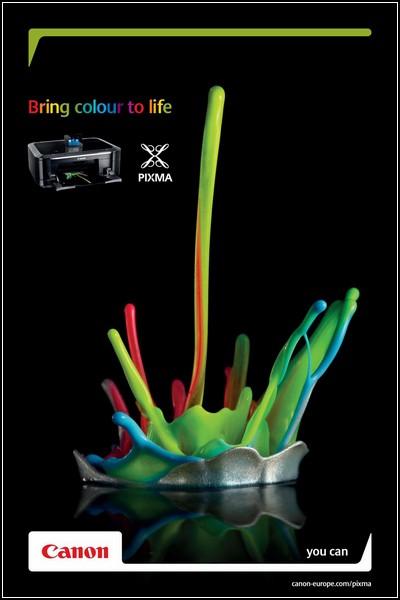 Искусство скульптуры в рекламе. Принтеры Canon Pixma