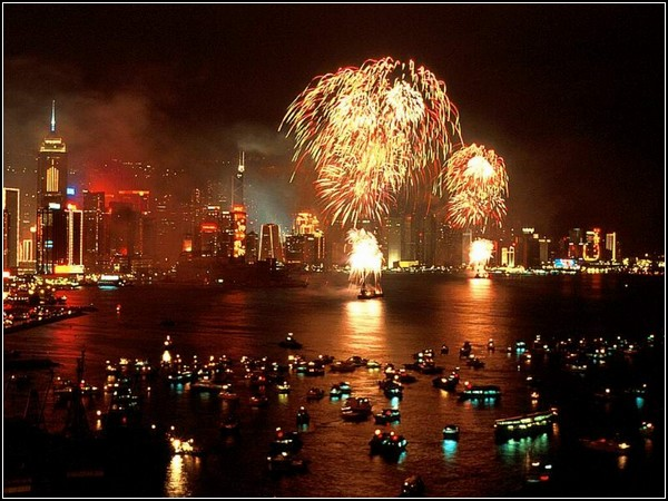 Новый год в китайском стиле: фейерверки