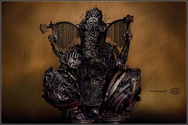 Необычные скульптуры: индийский бог Ганеша и благовония