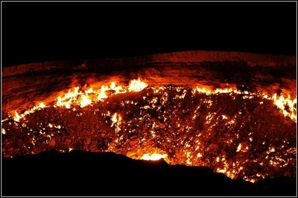 Ворота ада газовый кратер дарваза в туркменистане