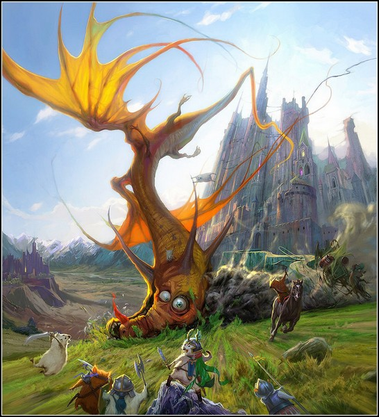 Веселые драконы Страны Фантазии