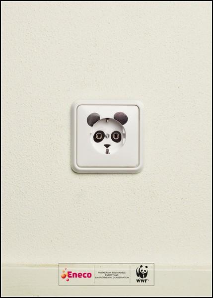 Панда, затаившаяся.. в розетке