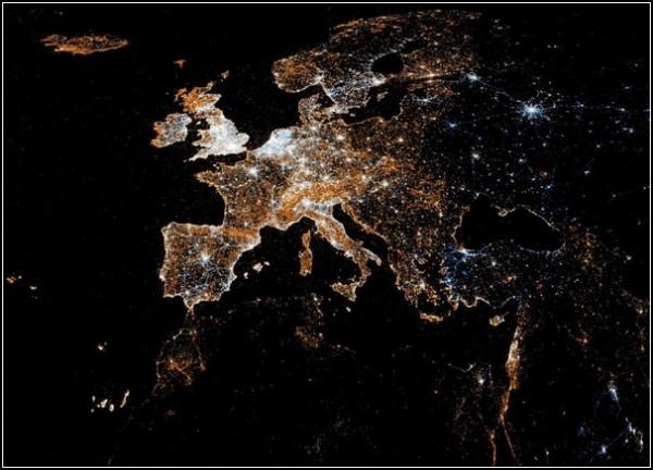 Карты пользователей Flickr и Twitter. Европа