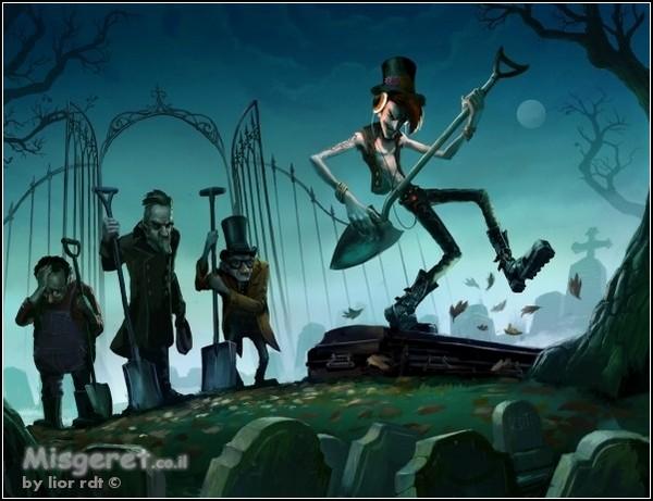 Юмористическое фэнтези: парадокс веселого гробовщика