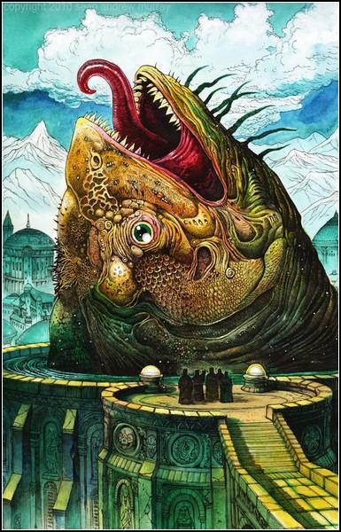 Барокко в искусстве фэнтези: *Храм Великой Рыбы*