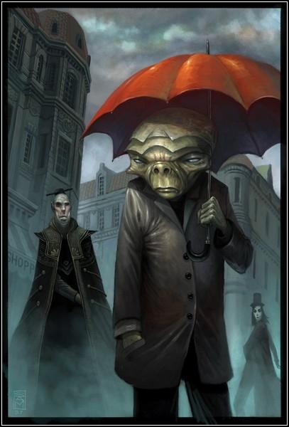 Барокко в искусстве фэнтези: *Человек с зонтом*