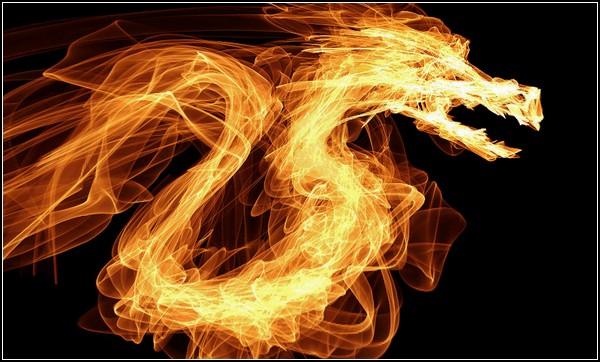Онлайн-рисовалка FlamePainter: дракон