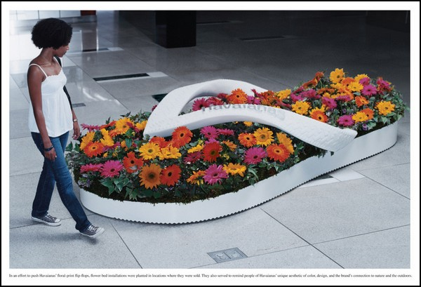 creative flowers in advertising. unusual review