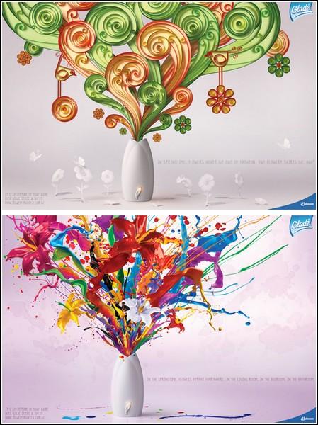 Реклама цветов. Весенний аромат и духи Glade