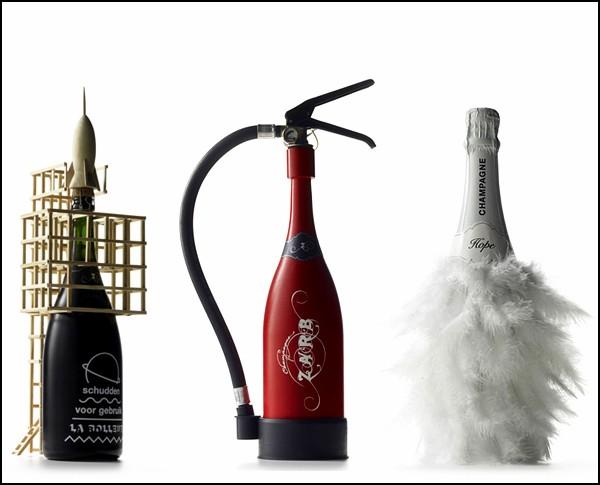 Необычные винные бутылки: креативная реклама шампанского